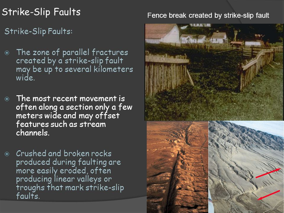 Strike-Slip Faults Strike-Slip Faults: