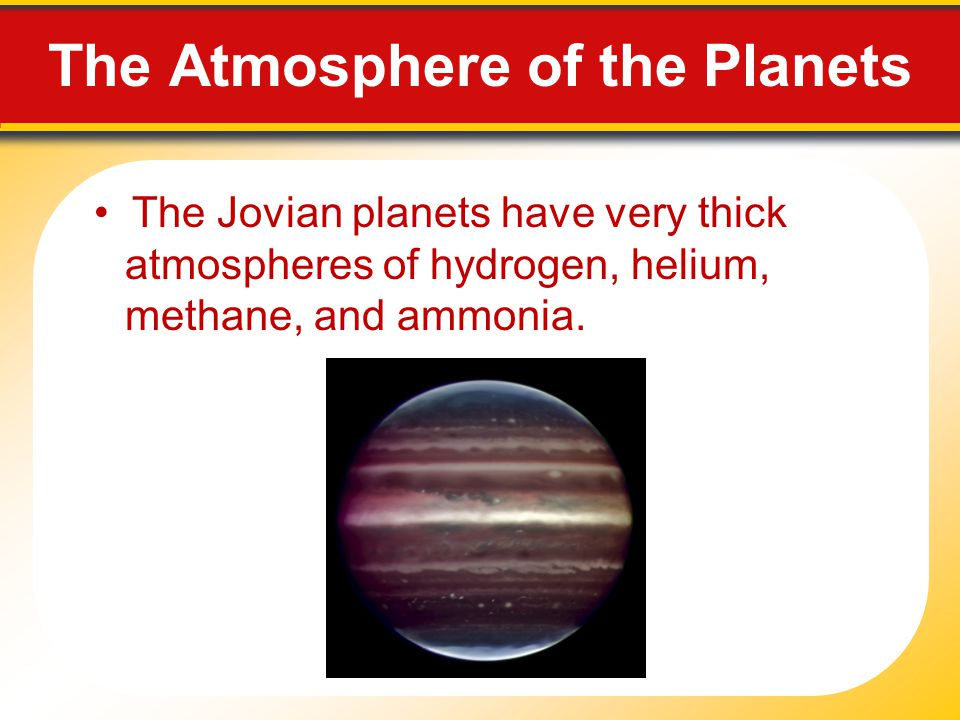 The Atmosphere of the Planets
