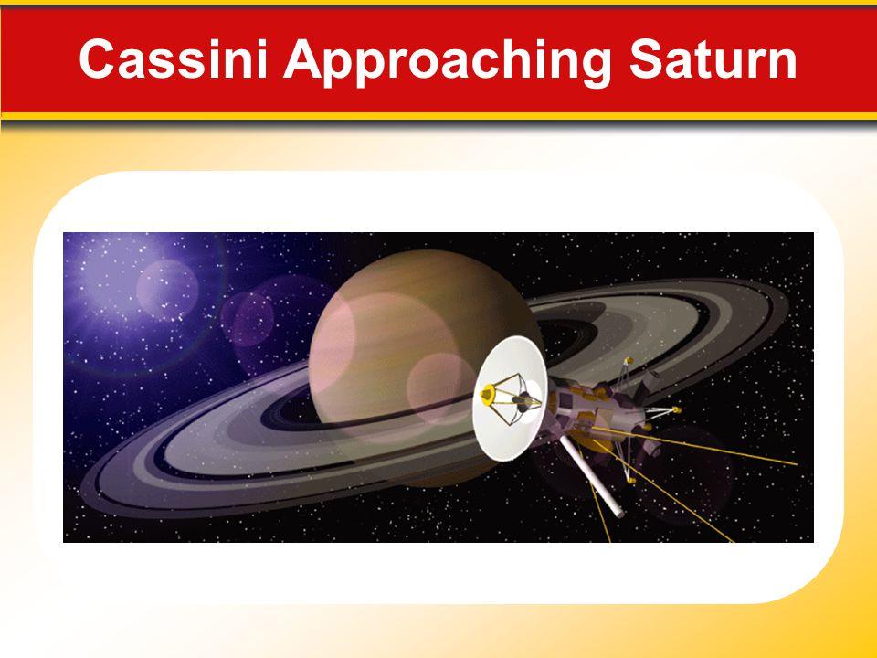 Cassini Approaching Saturn