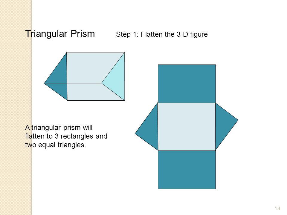 Triangular Prism Step 1: Flatten the 3-D figure