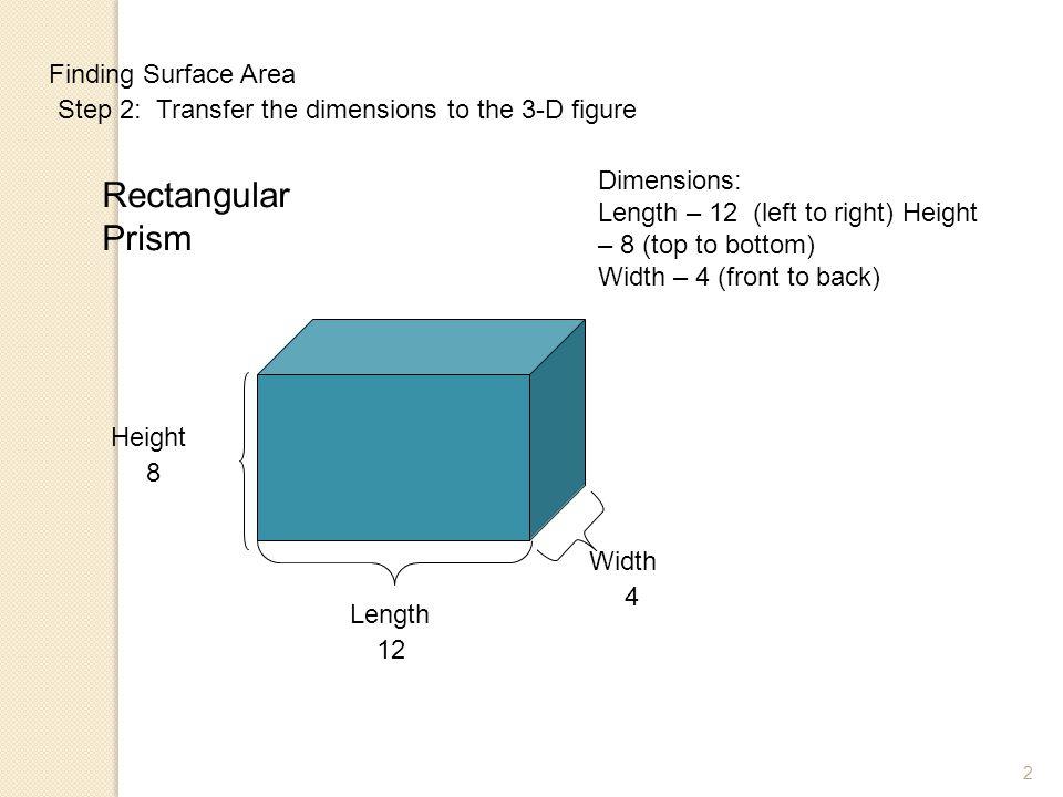 Rectangular Prism Finding Surface Area