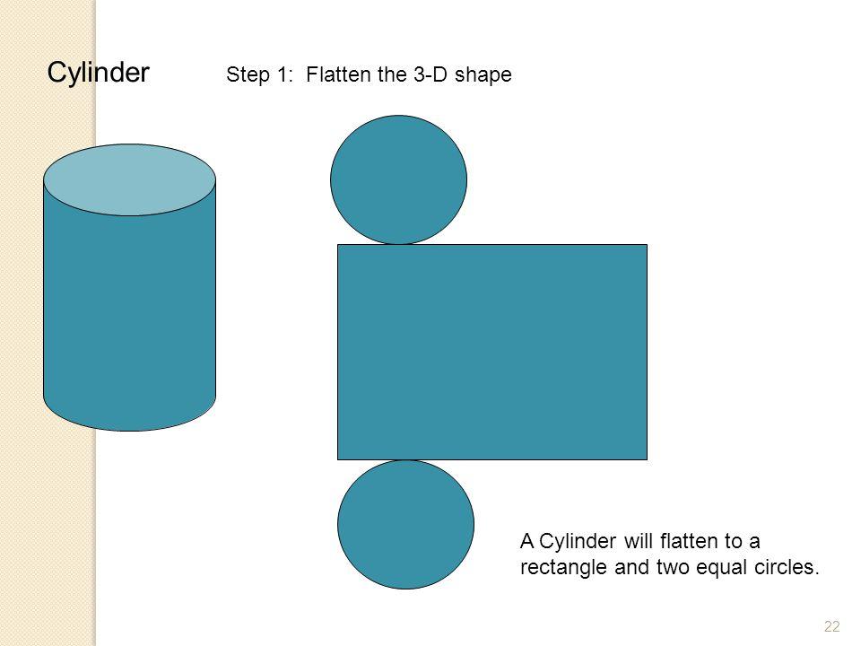 Cylinder Step 1: Flatten the 3-D shape