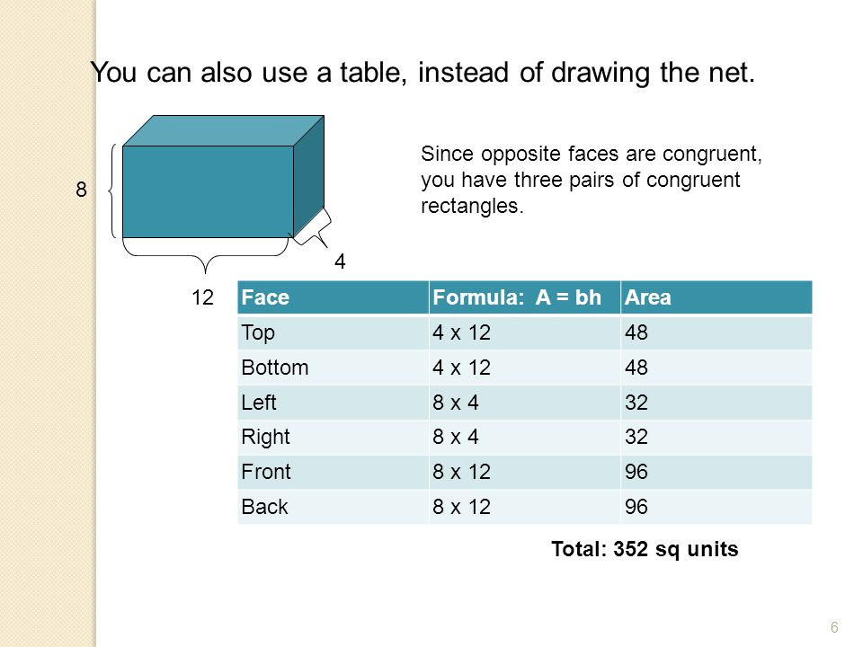 You can also use a table, instead of drawing the net.