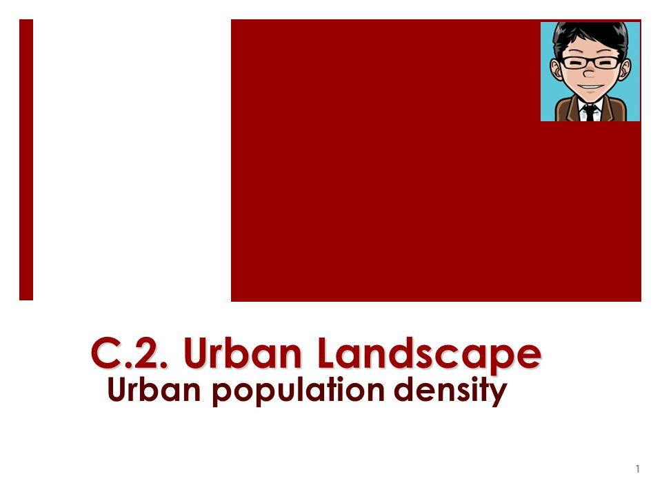 Urban population density