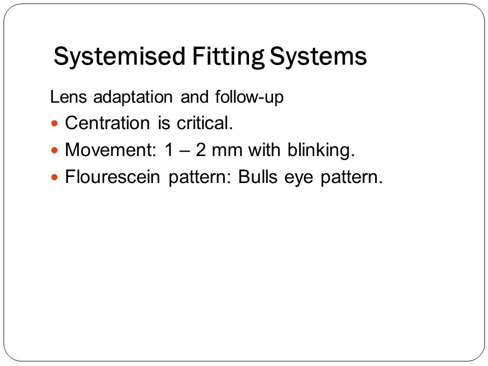 Systemised Fitting Systems
