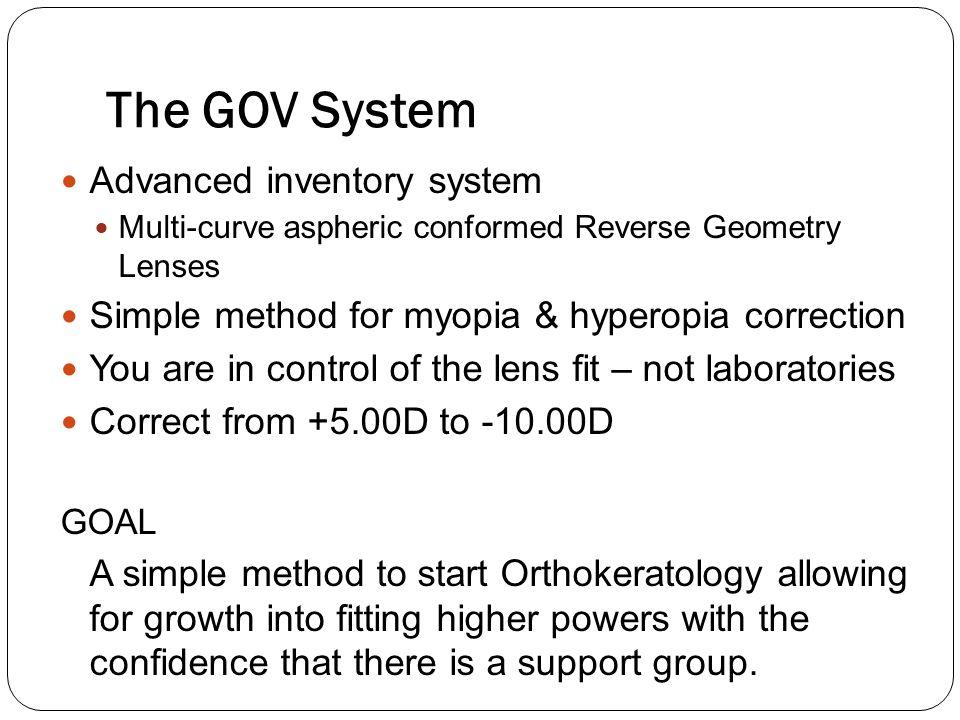 The GOV System Advanced inventory system