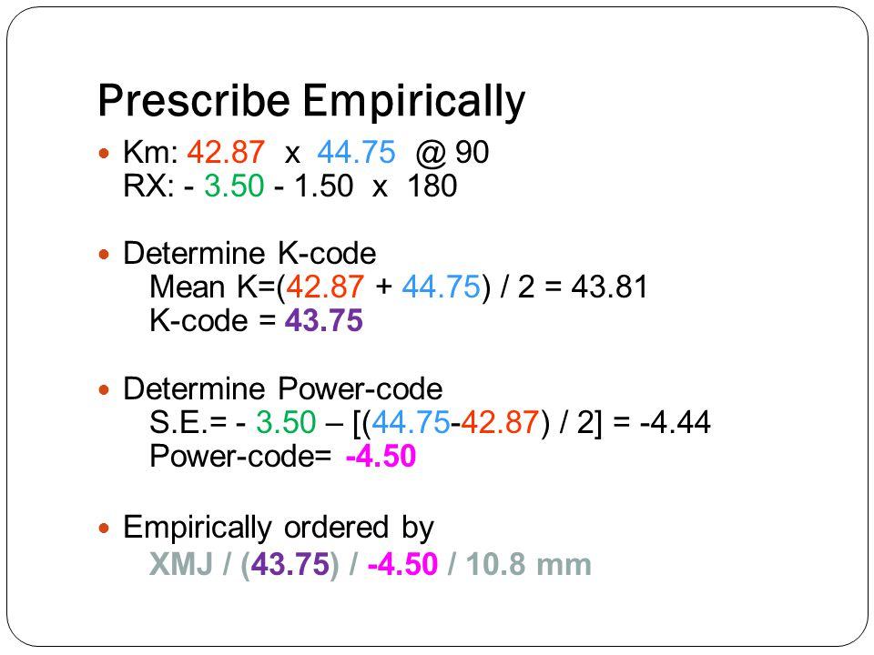 Prescribe Empirically