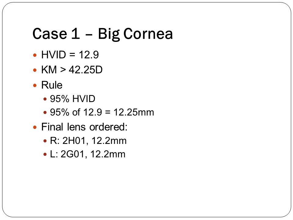 Case 1 – Big Cornea HVID = 12.9 KM > 42.25D Rule