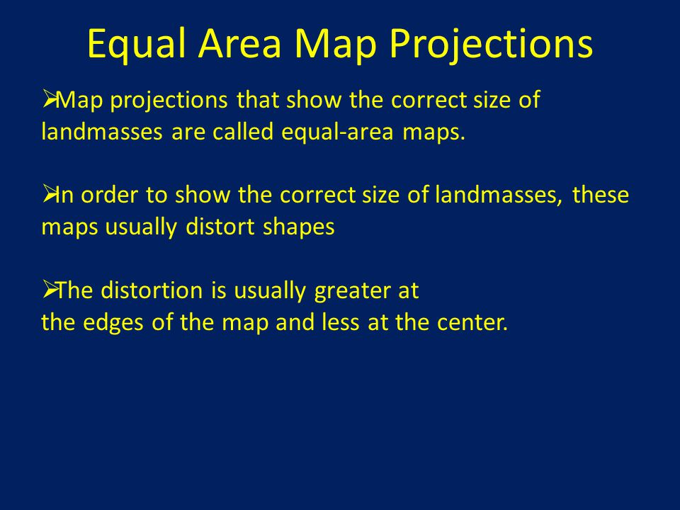 Equal Area Map Projections