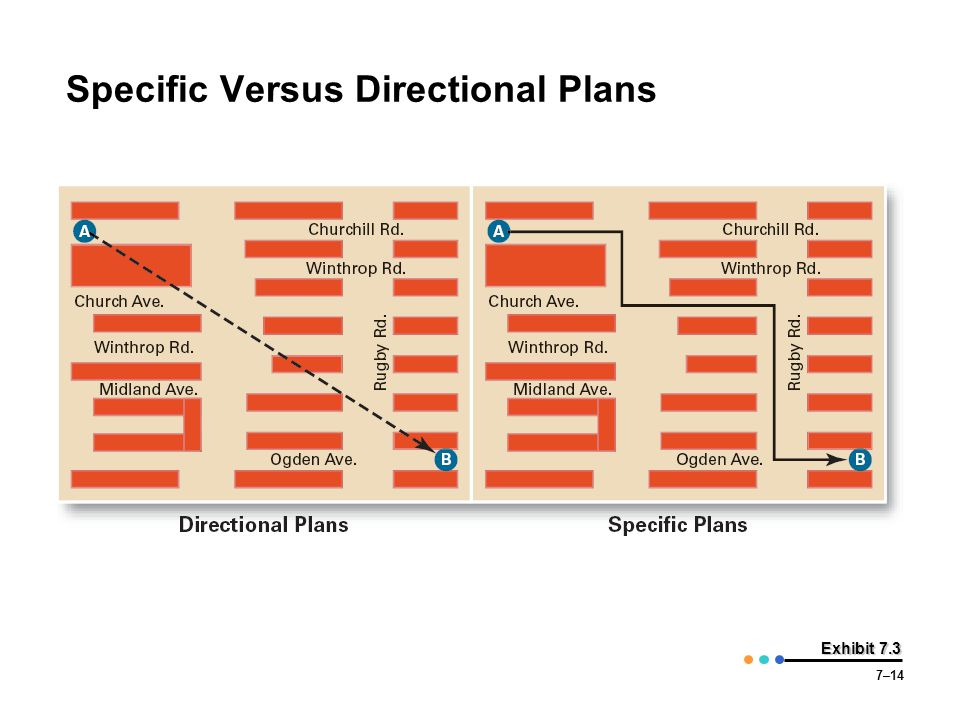 Specific Versus Directional Plans