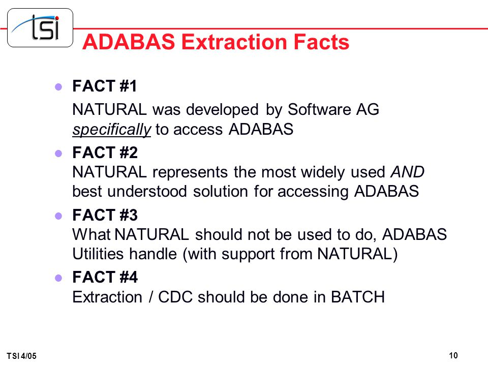 ADABAS Extraction Facts