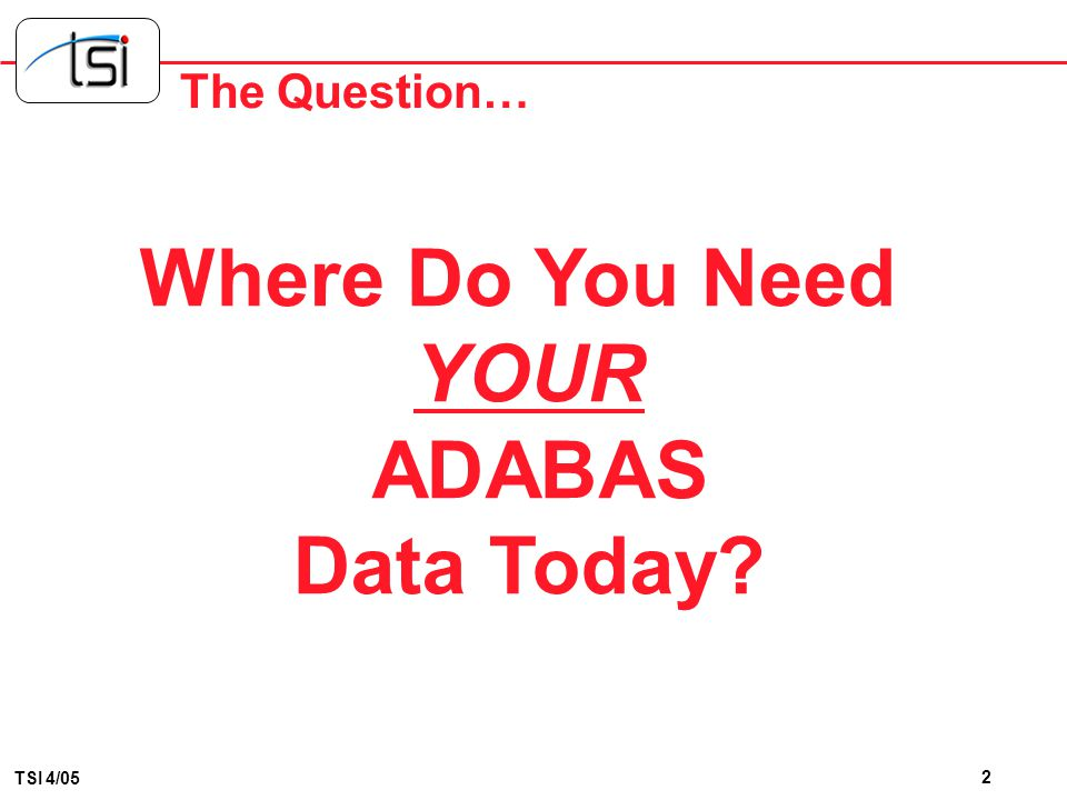 Where Do You Need Data Today