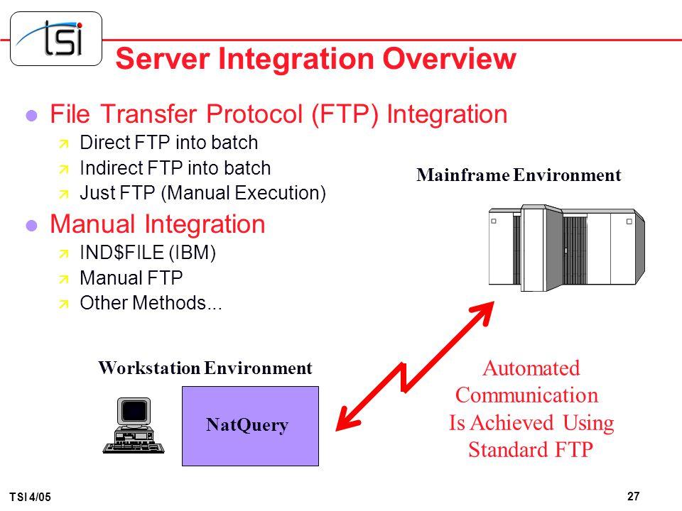 Server Integration Overview