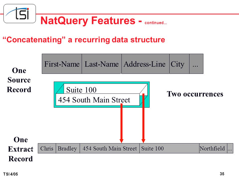 NatQuery Features - continued...