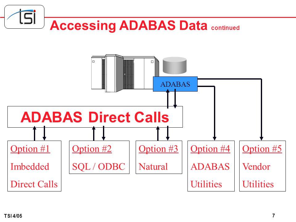 Accessing ADABAS Data continued
