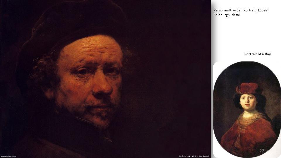 Rembrandt — Self Portrait, 1659 , Edinburgh, detail