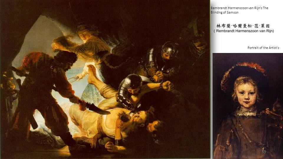 Rembrandt Harmenszoon van Rijn's The Blinding of Samson
