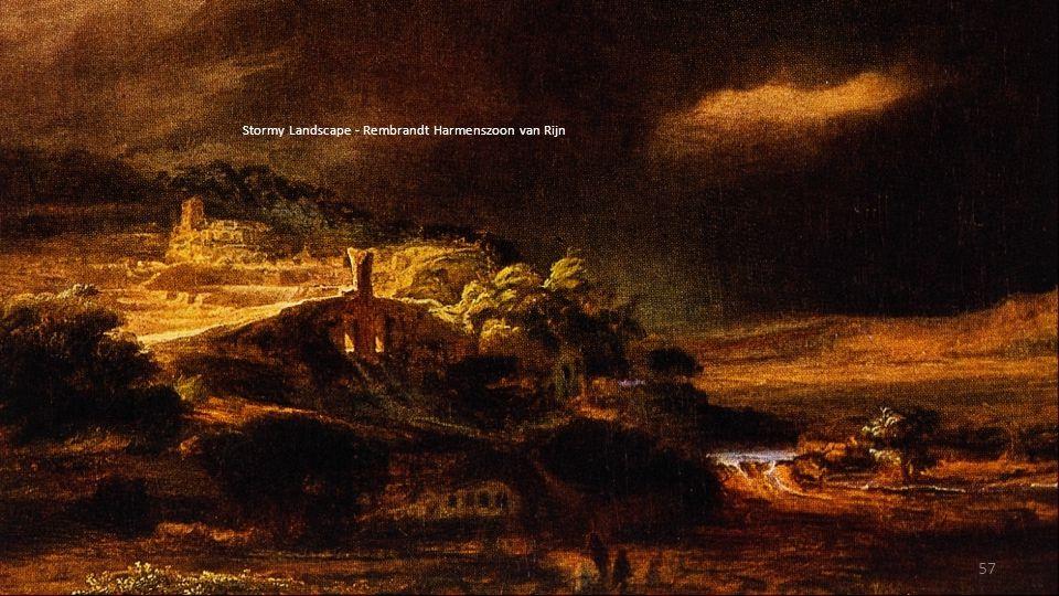 Stormy Landscape - Rembrandt Harmenszoon van Rijn