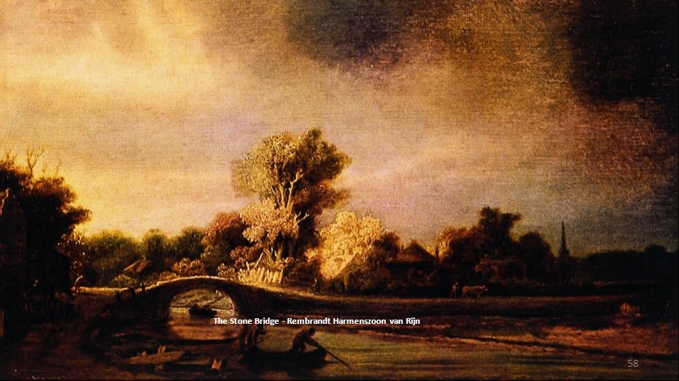 The Stone Bridge - Rembrandt Harmenszoon van Rijn