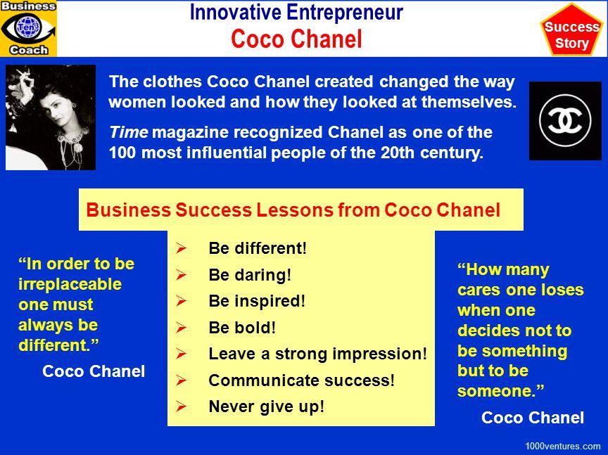 Innovative Entrepreneur Coco Chanel