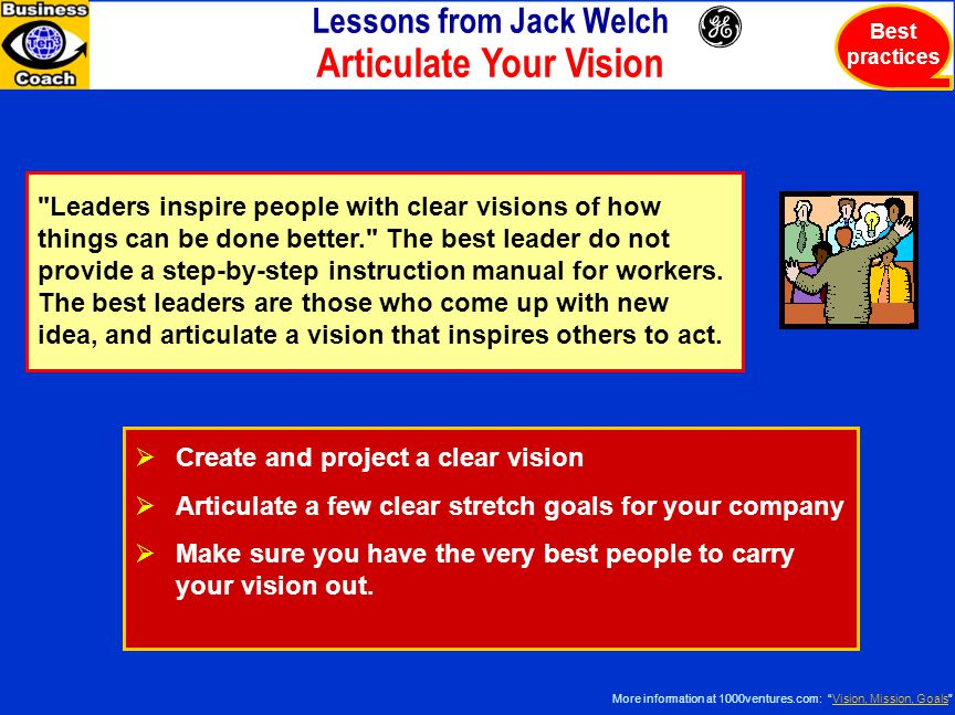 Lessons from Jack Welch Articulate Your Vision