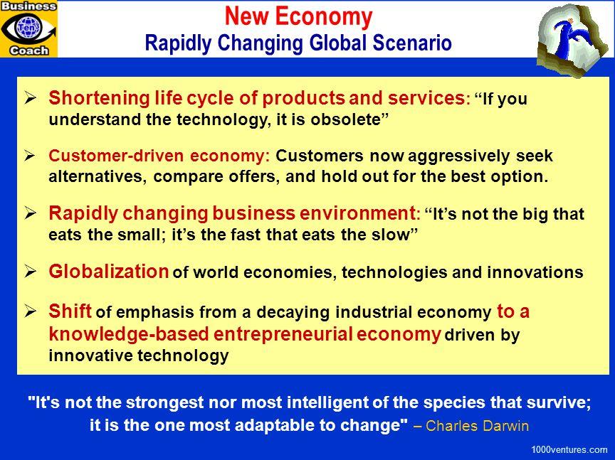 New Economy Rapidly Changing Global Scenario