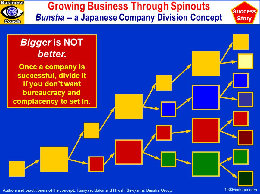 Growing Business Through Spinouts Bunsha – a Japanese Company Division Concept