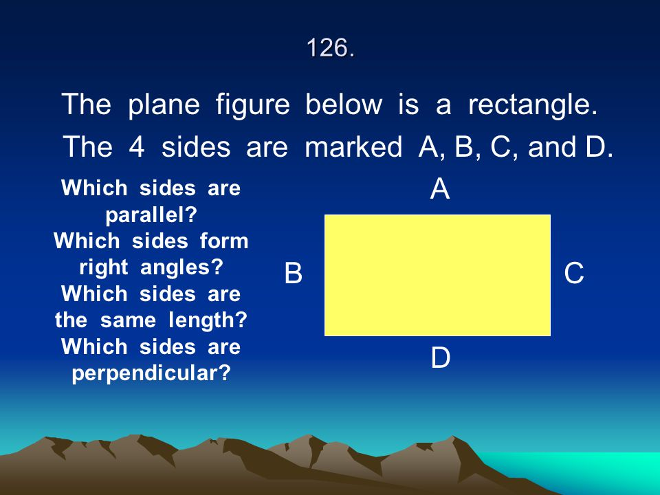 The plane figure below is a rectangle.