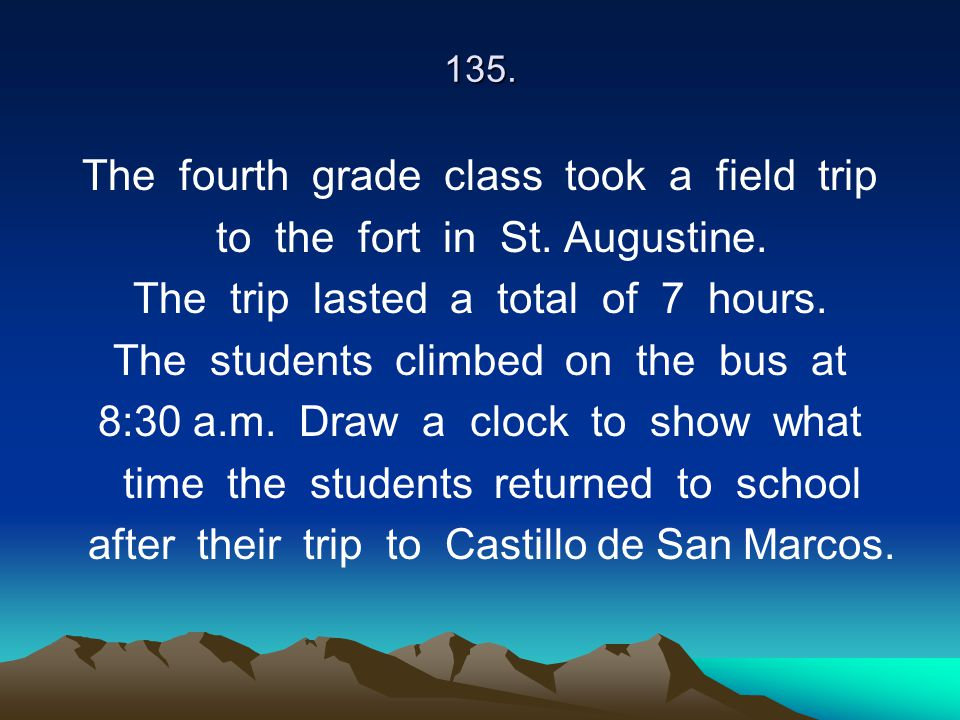 The fourth grade class took a field trip to the fort in St. Augustine.