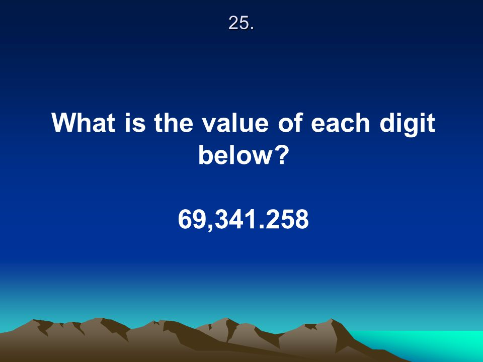 What is the value of each digit below
