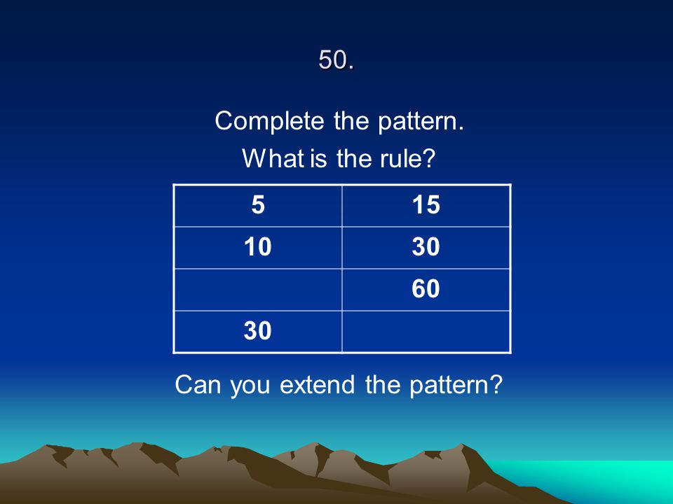 Can you extend the pattern