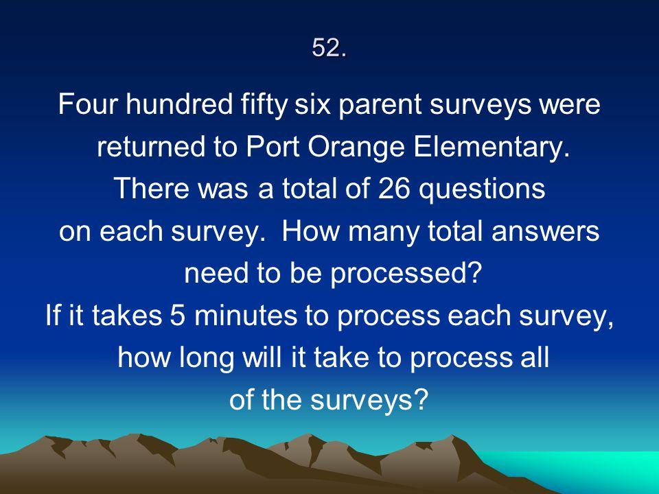 Four hundred fifty six parent surveys were