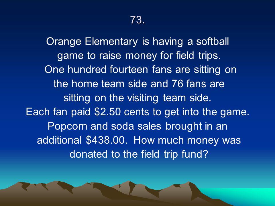 Orange Elementary is having a softball