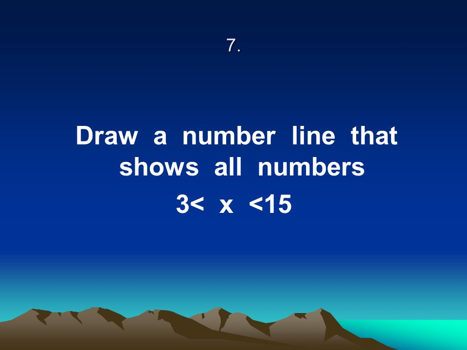 Draw a number line that shows all numbers