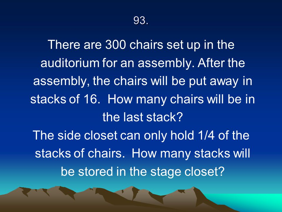 There are 300 chairs set up in the