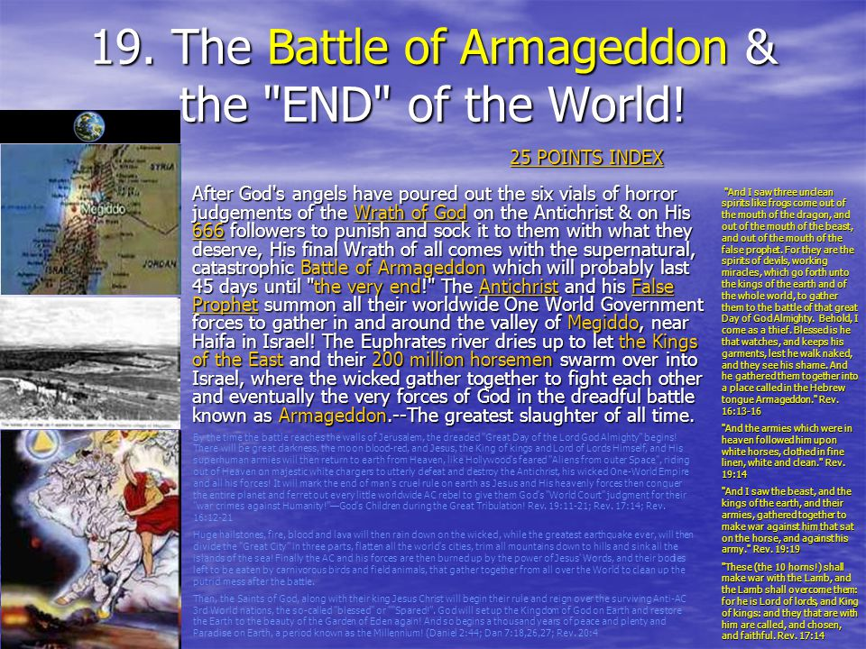 19. The Battle of Armageddon & the END of the World!