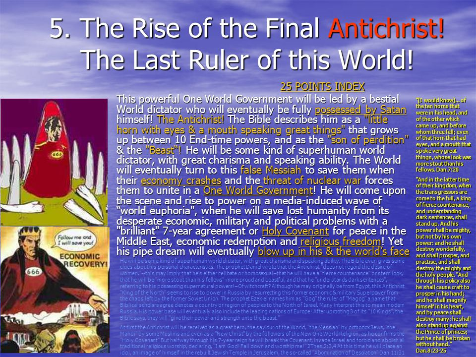 5. The Rise of the Final Antichrist! The Last Ruler of this World!