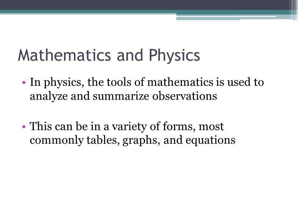 Mathematics and Physics