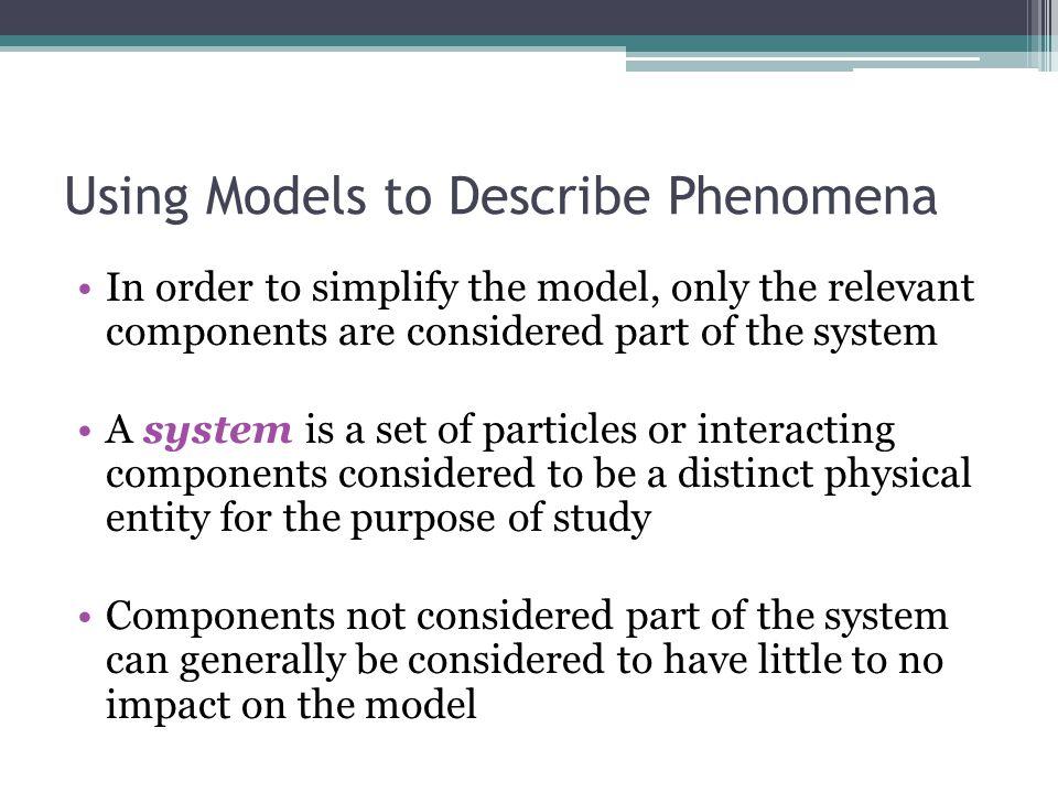 Using Models to Describe Phenomena