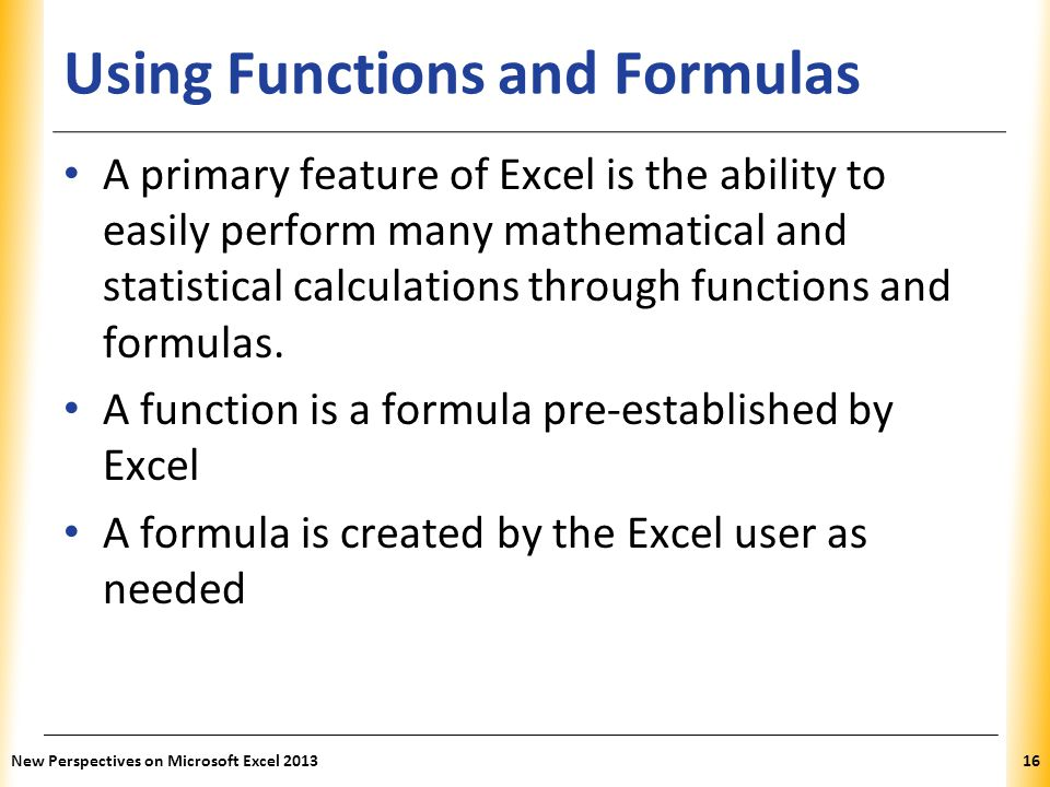 Using Functions and Formulas