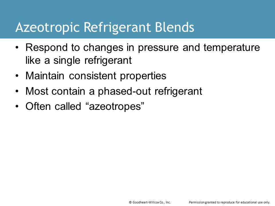 Azeotropic Refrigerant Blends