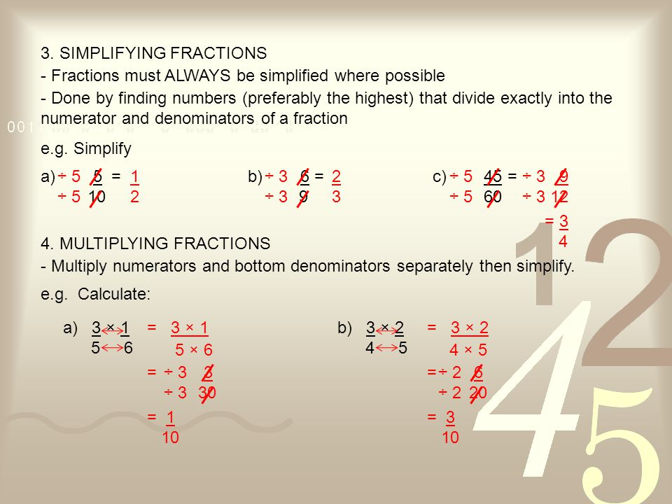 3. SIMPLIFYING FRACTIONS