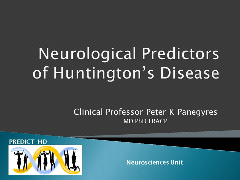Neurological Predictors of Huntington's Disease