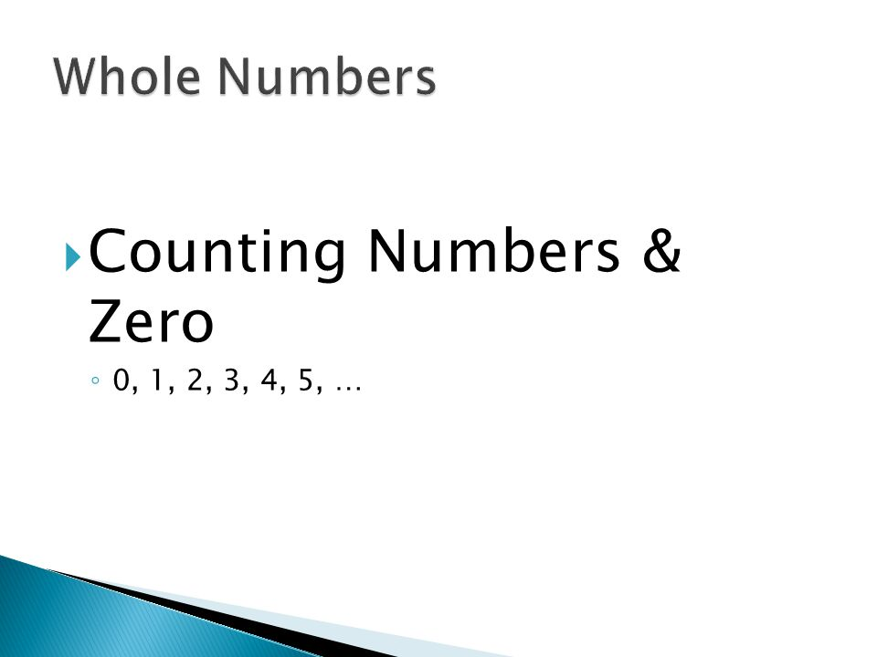 Counting Numbers & Zero