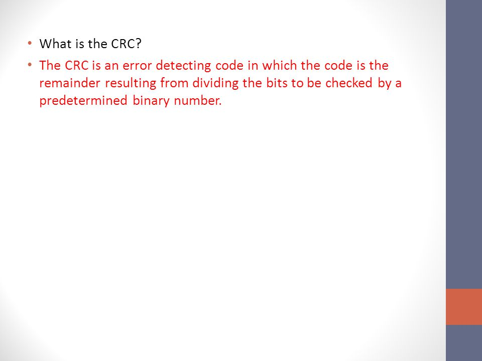 What is the CRC