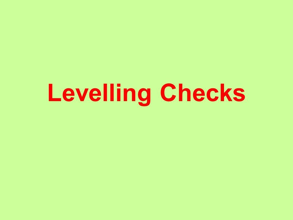 Levelling Checks