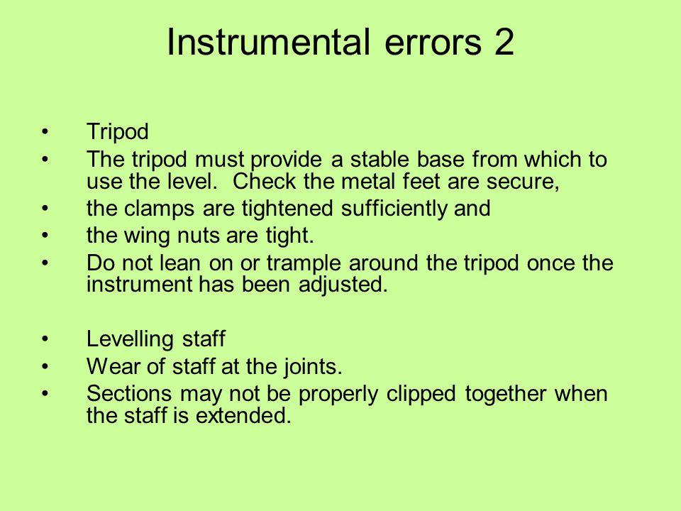Instrumental errors 2 Tripod