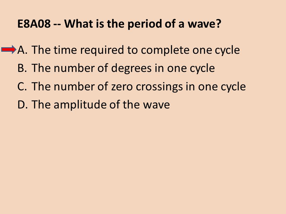 E8A08 -- What is the period of a wave