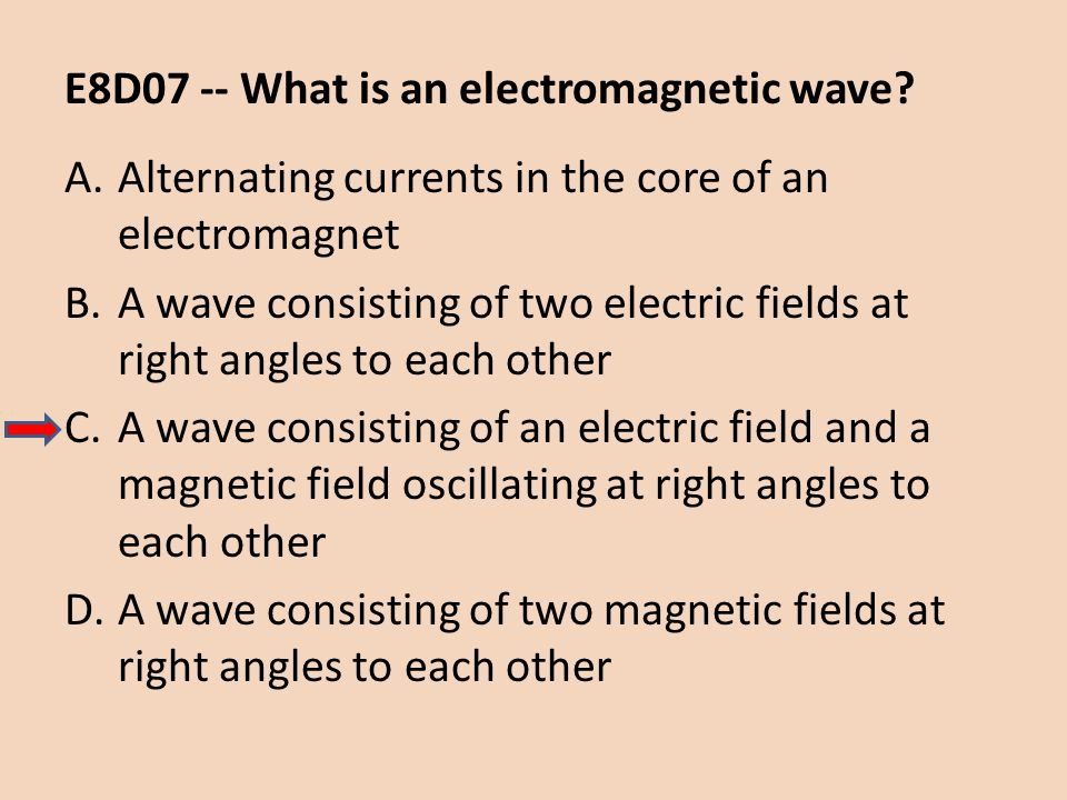 E8D07 -- What is an electromagnetic wave