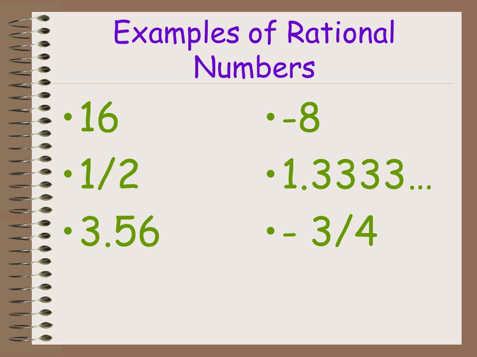 Examples of Rational Numbers